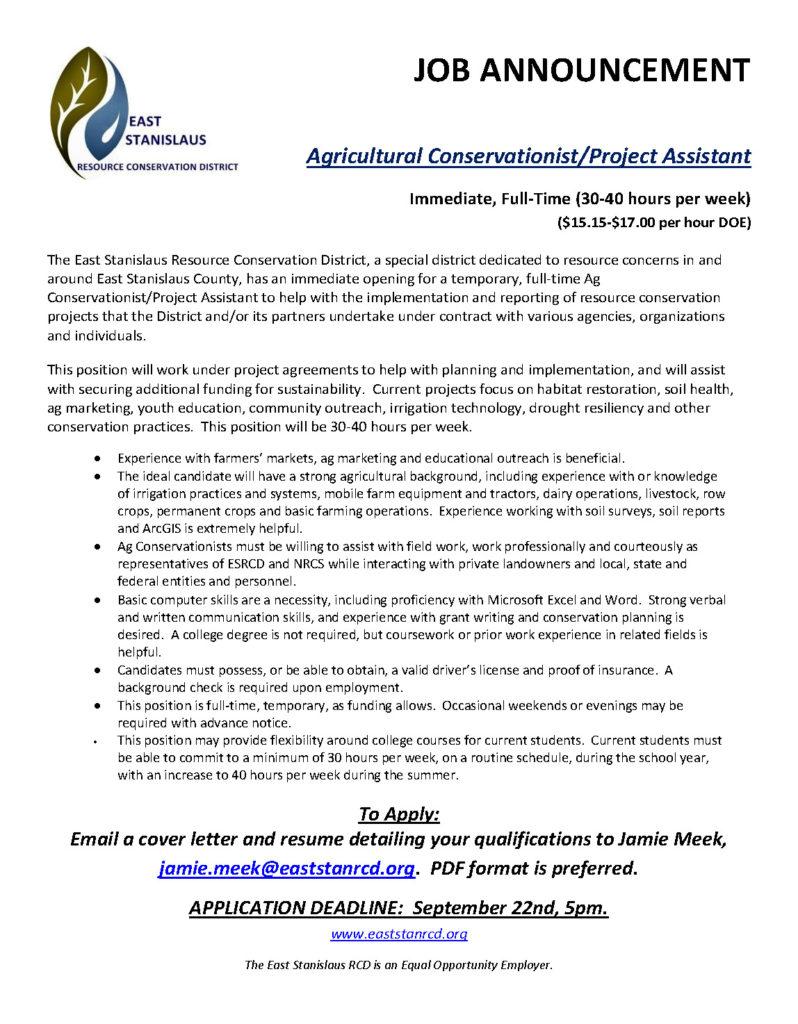 2017 Ag Con Project Asst